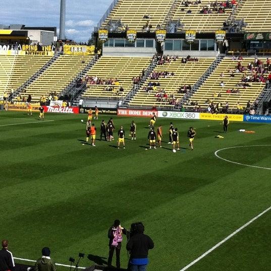 Photo taken at MAPFRE Stadium by Sarah P. on 10/2/2011