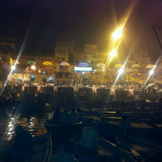 Photo taken at Dasaswamedh Ghat by Giridhar Y. on 12/6/2011