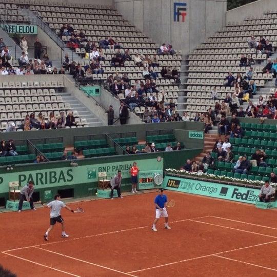 Photo taken at Stade Roland Garros by Rio E. on 6/10/2012