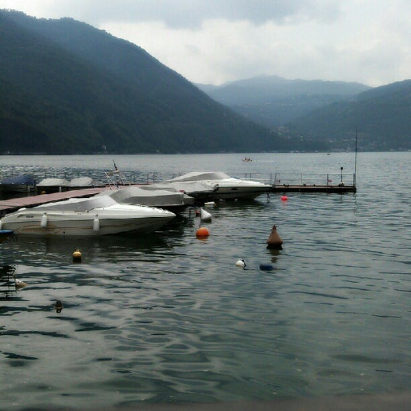 Photo taken at Lago di Lugano by Andrea on 8/24/2012