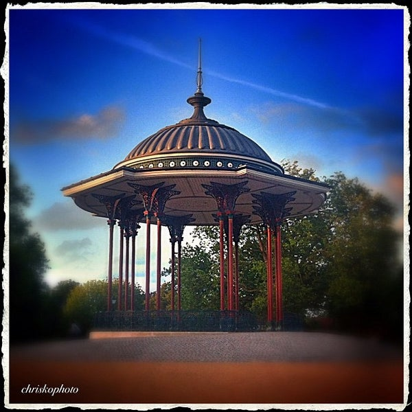 Photo taken at Clapham Common by Chris K. on 8/6/2012