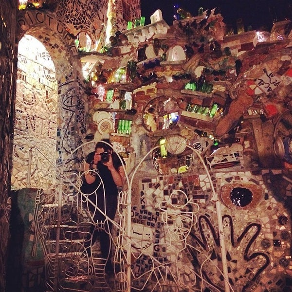 Photo taken at Philadelphia's Magic Gardens by Stacey M. on 4/13/2014