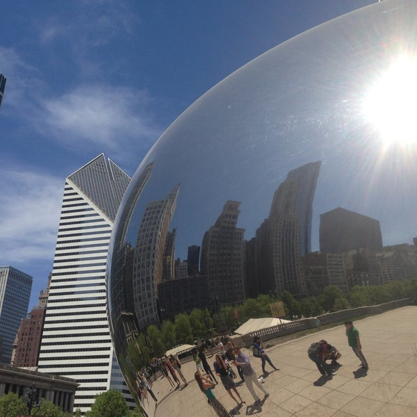 Photo taken at Cloud Gate by pinky l. on 5/16/2013