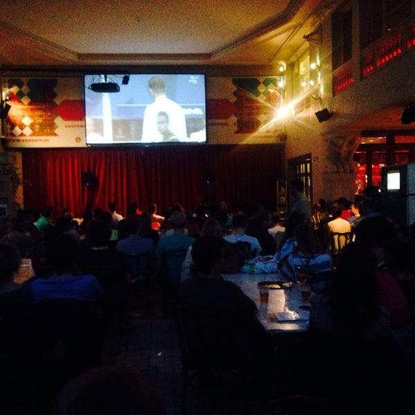 Photo taken at Vooruit Café by Matthias D. on 6/13/2014