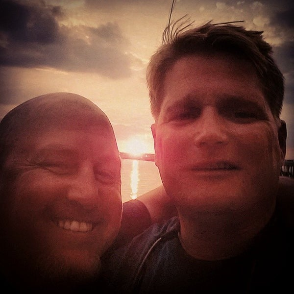Photo taken at Marina Deck Resturant by Chris W. on 7/17/2014