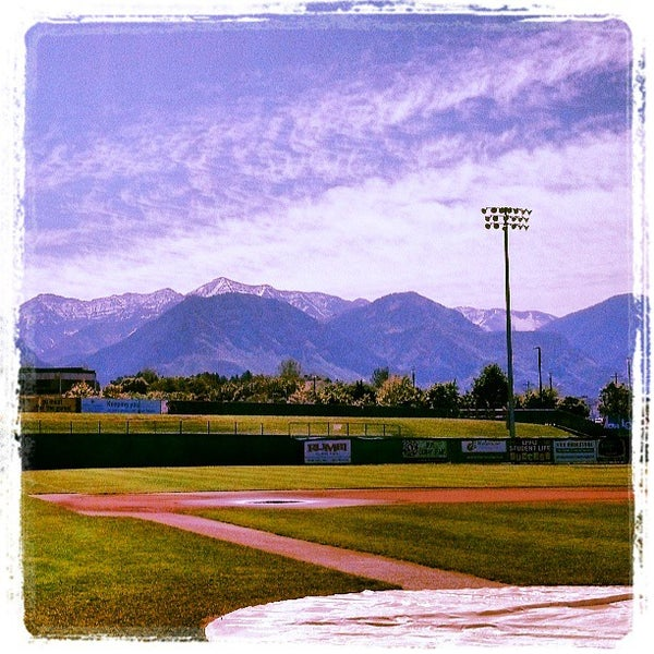 Photo taken at Home of the Owlz (Brent Brown Ballpark) by Orem Owlz B. on 5/25/2013