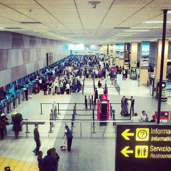 Photo taken at Aeropuerto Internacional Jorge Chávez (LIM) by Cristhian R. on 8/9/2013