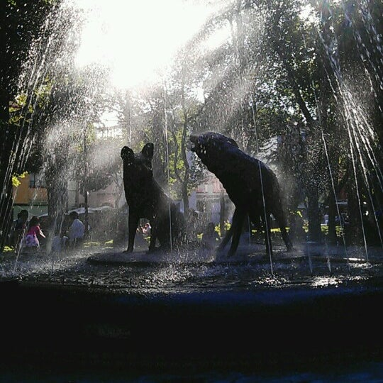 Photo taken at Jardín Hidalgo by Alberto Jesús B. on 10/7/2012