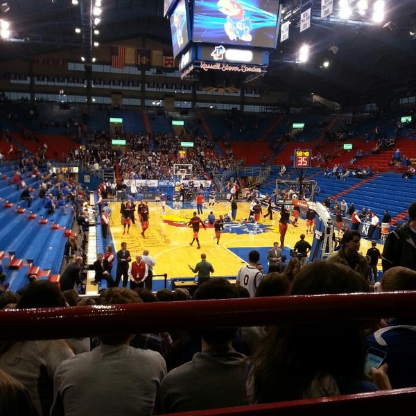 Photo taken at Allen Fieldhouse by Eric G. on 3/6/2014