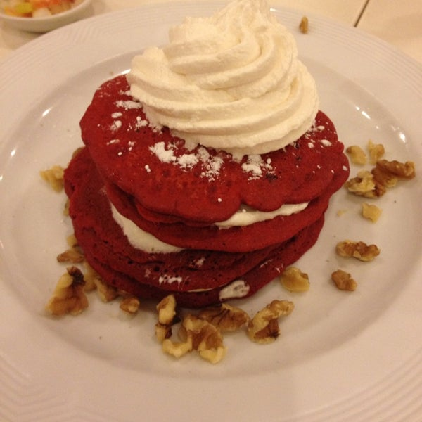 I Love their Red Velvet Pancakes...