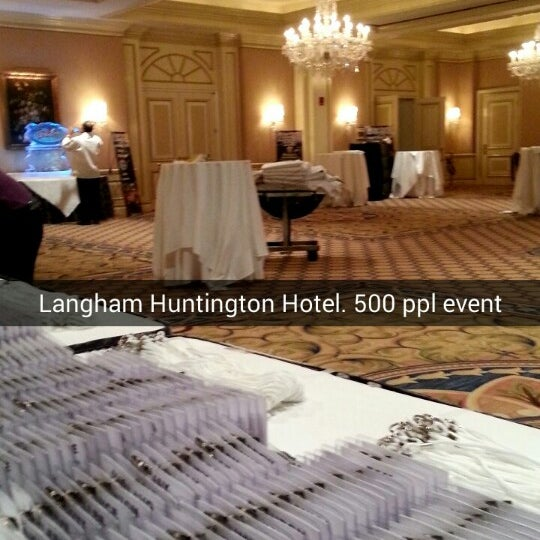 Photo taken at Langham Huntington Hotel by Estefania . on 1/26/2014