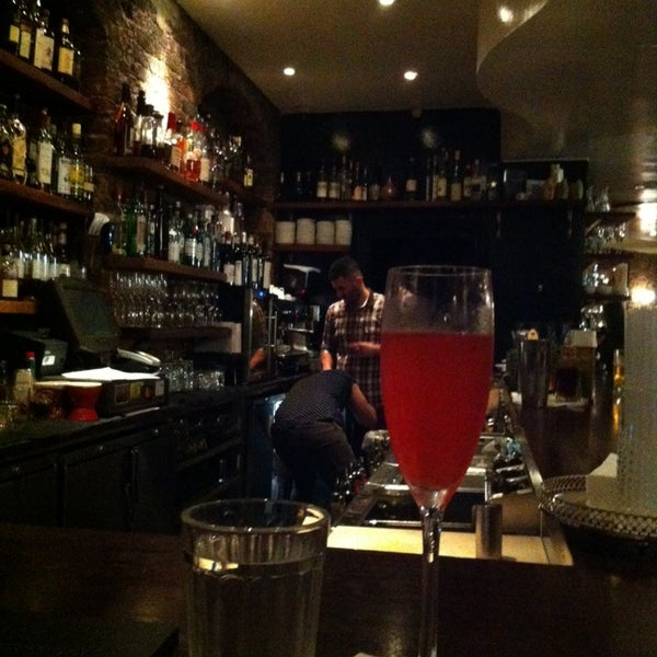Photo taken at Hawksmoor Spitalfields - The Bar by Stephanie C. on 10/21/2013