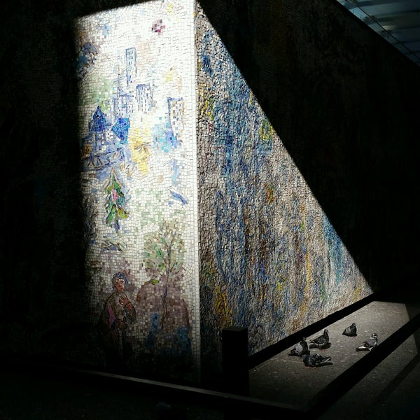 """Photo taken at Chagall Mosaic, """"The Four Seasons"""" by K. K. on 11/4/2016"""