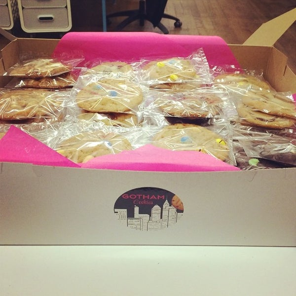 Photo taken at Bitly HQ by Gotham Cookies on 8/16/2014