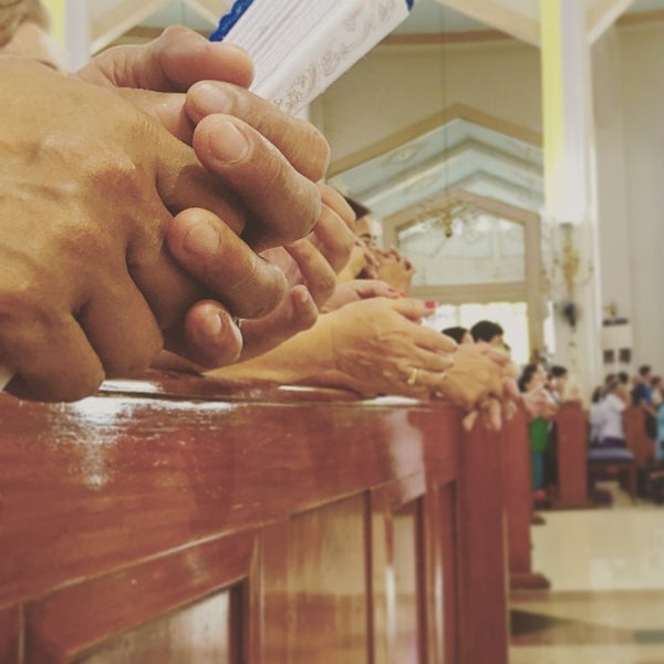 Photo taken at National Shrine of Our Lady of Peace and Good Voyage (Antipolo Cathedral) by Atom Y. on 6/15/2015