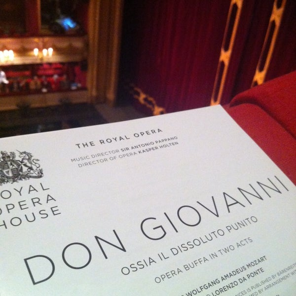 Photo taken at Royal Opera House by Christian L. on 2/24/2014