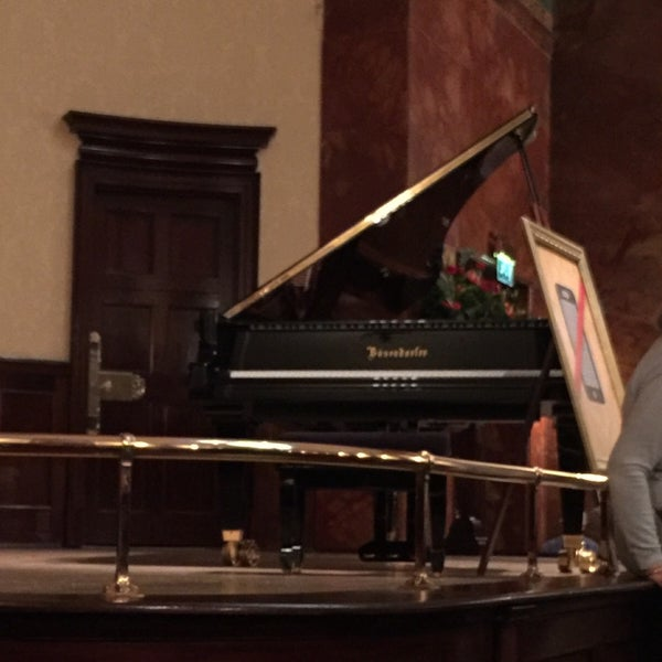 Photo taken at Wigmore Hall by Kaz Y. on 4/2/2016