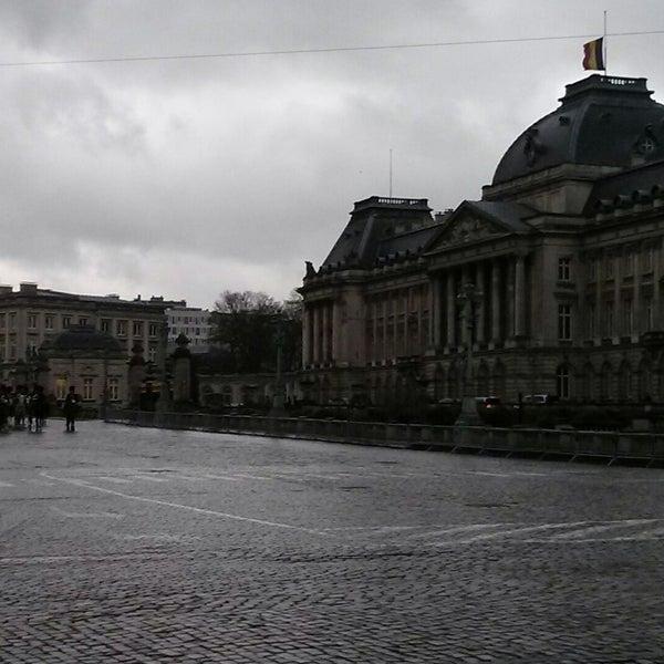 Photo taken at Paleizenplein / Place des Palais by Thibaut on 12/12/2014