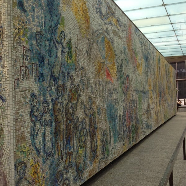 "Photo taken at Chagall Mosaic, ""The Four Seasons"" by Scooney K. on 7/31/2014"