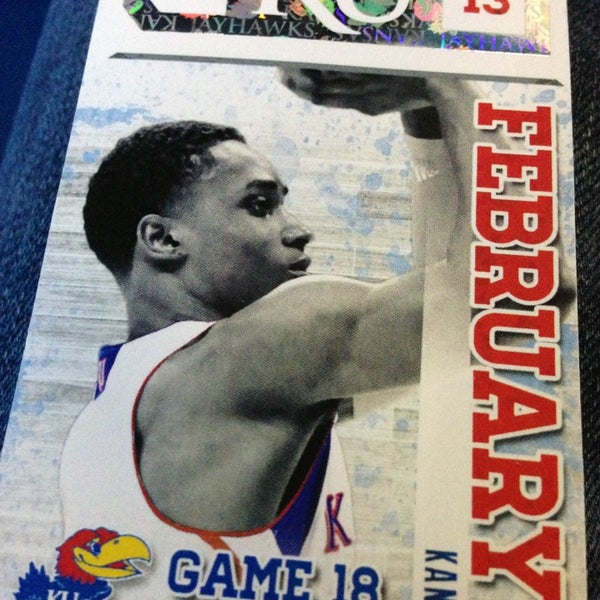 Photo taken at Allen Fieldhouse by Brent K. on 2/23/2013