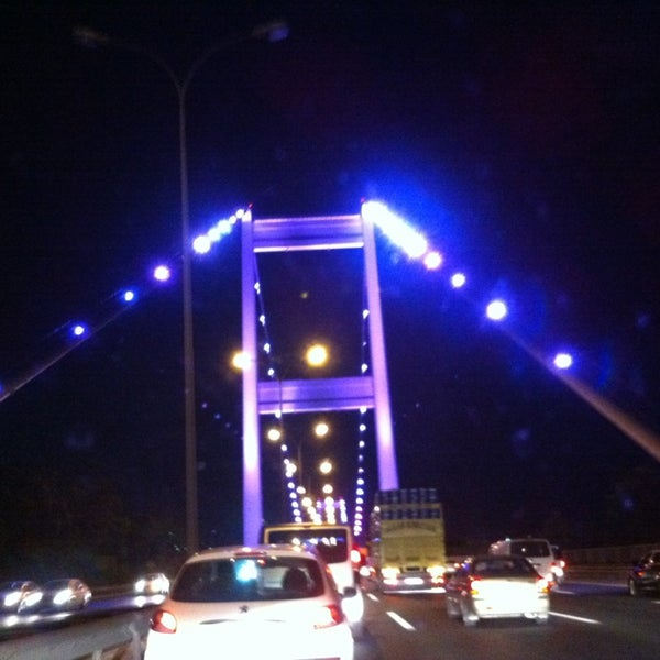 Photo taken at Fatih Sultan Mehmet Bridge by EsenGül T. on 7/21/2013