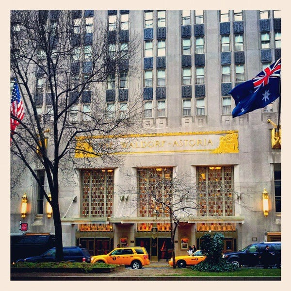 Photo taken at Waldorf Astoria New York by Silvio D. on 2/14/2013