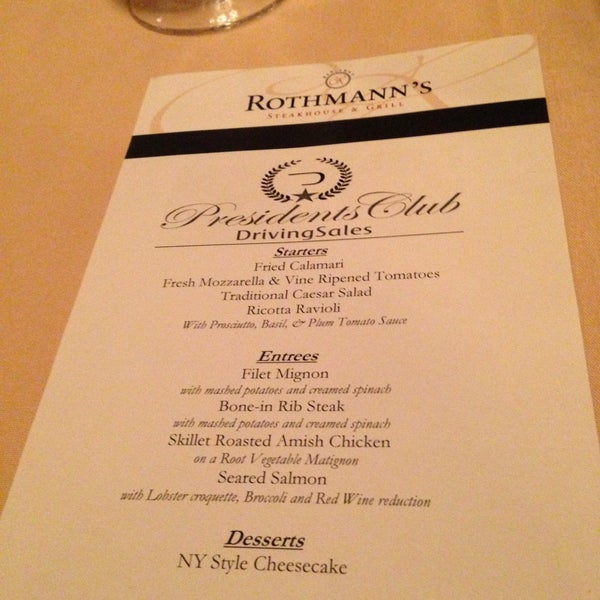 Photo taken at Rothmann's Steakhouse by Haley Toyota C. on 4/21/2013