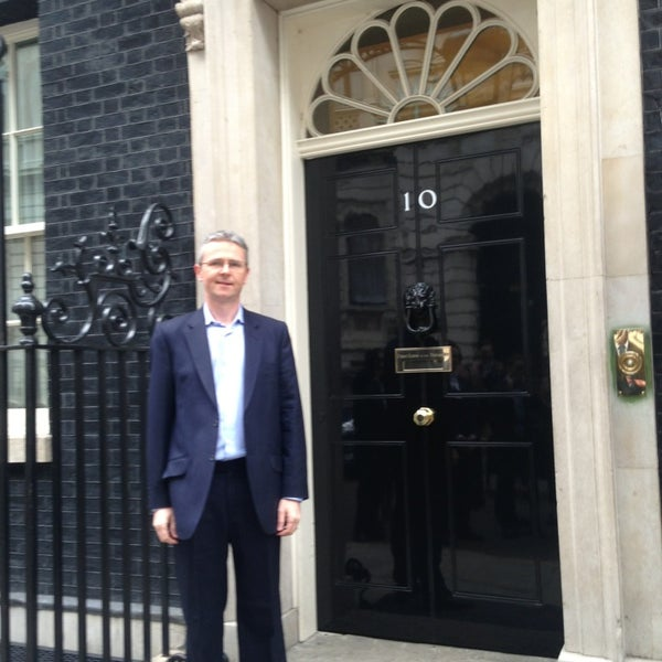 Photo taken at 10 Downing St. by Paul K. on 4/5/2013