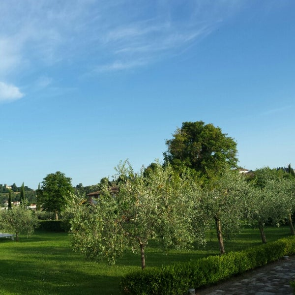Photo taken at Villa Olmi Firenze by Bianca T. on 6/23/2014