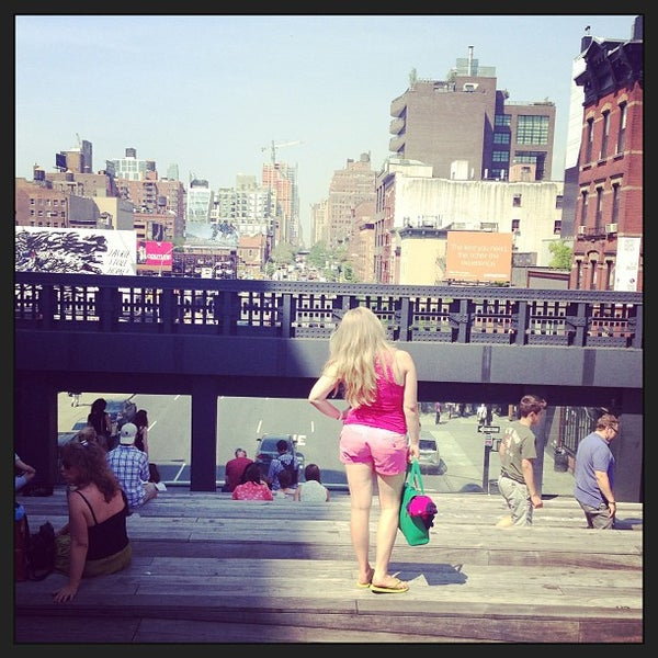 Photo taken at High Line 10th Ave Amphitheatre by Elena G. on 6/21/2013