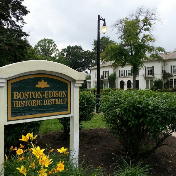 Photo taken at Boston-Edison Historic District by Kate H. on 7/7/2013