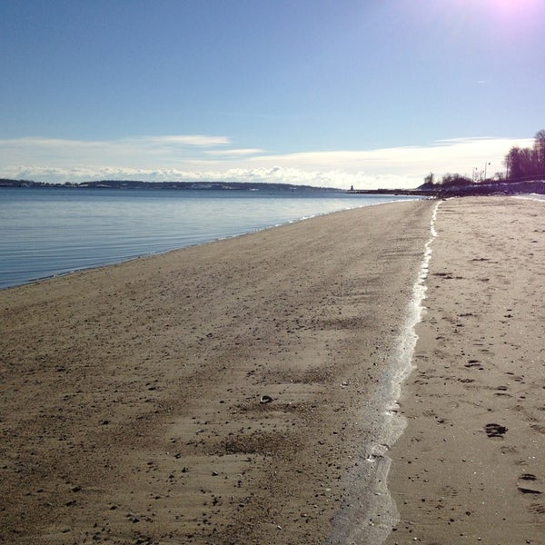 Photo taken at East End Beach by Laura K. on 12/31/2012