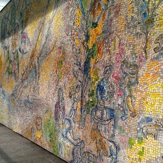 "Photo taken at Chagall Mosaic, ""The Four Seasons"" by Amanda A. on 6/14/2013"