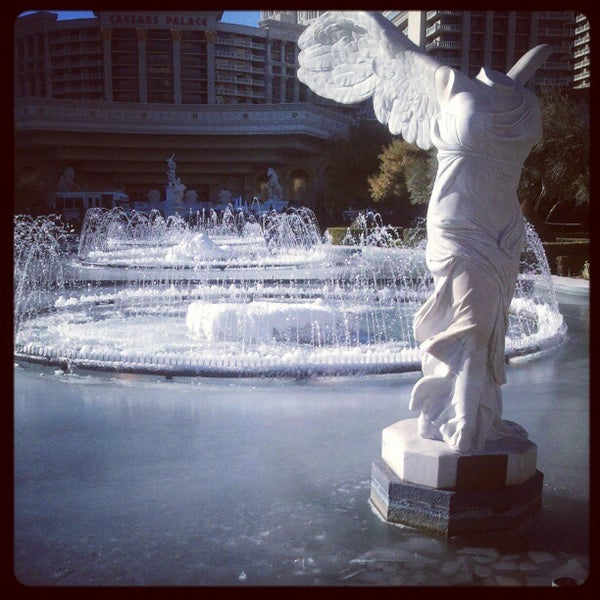 Photo taken at Caesars Palace Gardens by Spanish Rob V. on 1/14/2013