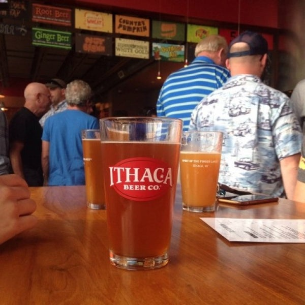 Photo taken at Ithaca Beer Co. Taproom by Katie R. on 9/26/2015