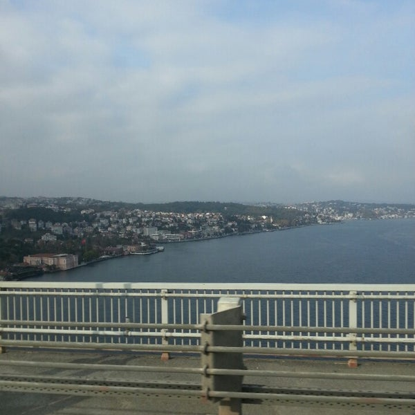 Photo taken at Fatih Sultan Mehmet Bridge by Tahsin D. on 11/2/2013