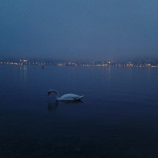 Photo taken at Lago di Lugano by Natalia T. on 3/6/2014