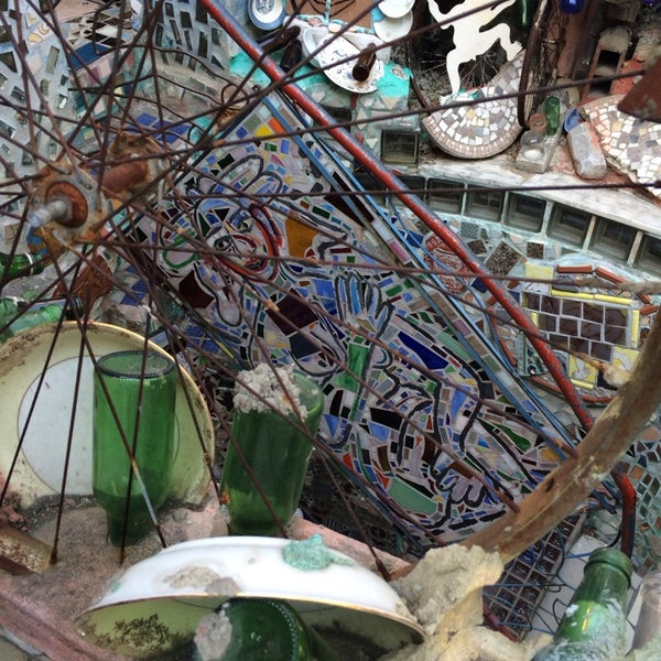 Photo taken at Philadelphia's Magic Gardens by Toad M. on 4/13/2014