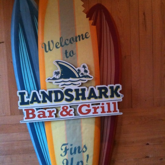 Photo taken at Landshark Bar & Grill by Holly B. on 5/11/2012
