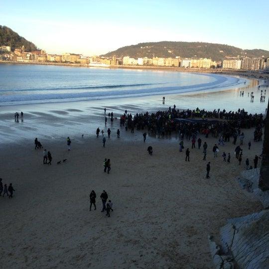 Photo taken at Paseo de La Concha by Gorka M. on 12/6/2012