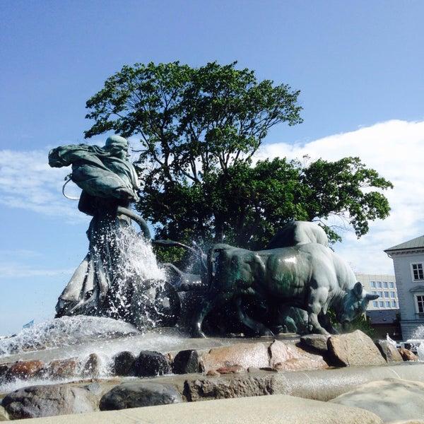 Photo taken at Gefionspringvandet (Gefion Fountain) by Keith L. on 7/7/2015