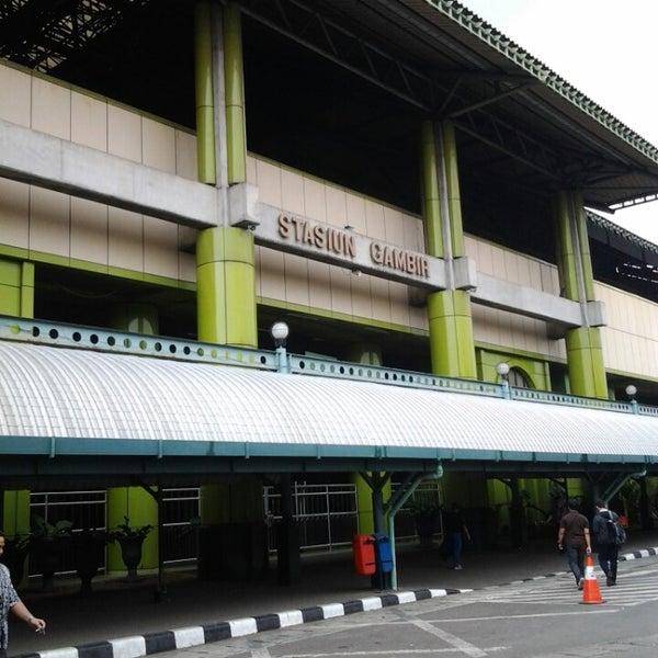 Photo taken at Stasiun Gambir by Boy M. on 6/28/2013