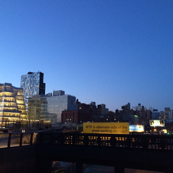 Photo taken at High Line 10th Ave Amphitheatre by Xavi G. on 4/9/2014
