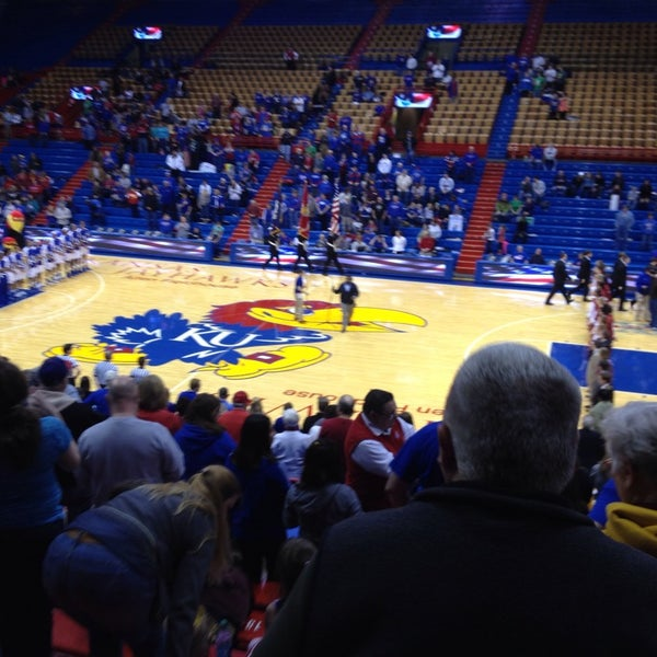 Photo taken at Allen Fieldhouse by Beth W. on 3/2/2014
