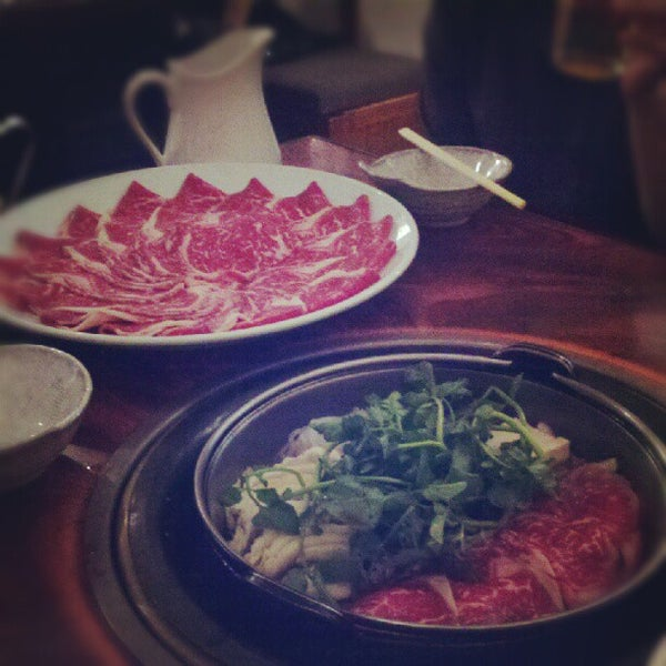 Photo taken at Shabu-Tatsu by Janelle J. on 6/19/2012