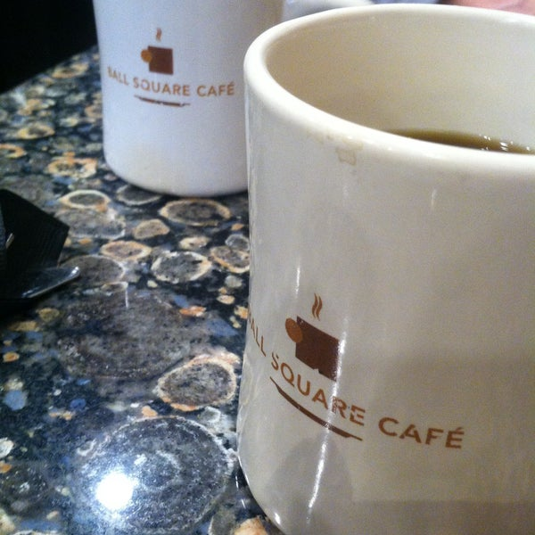 Photo taken at Ball Square Cafe by Theresa R. on 3/14/2015