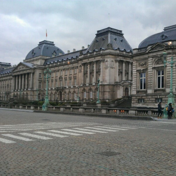 Photo taken at Paleizenplein / Place des Palais by Virginie B. on 3/21/2013
