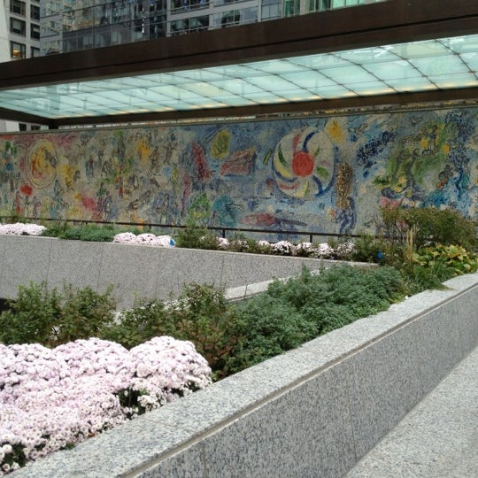 """Photo taken at Chagall Mosaic, """"The Four Seasons"""" by Robert S. on 10/20/2012"""