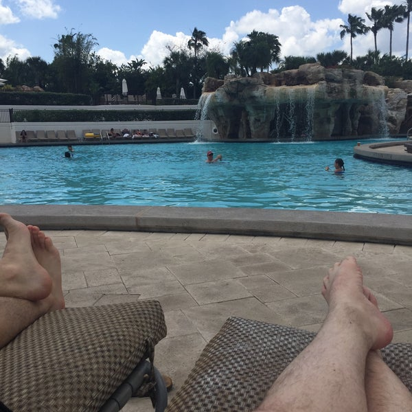 Photo taken at Marriott World Center Pool by Ryan C. on 4/21/2016