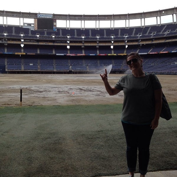 Photo taken at Qualcomm Stadium by Kati C. on 2/18/2014